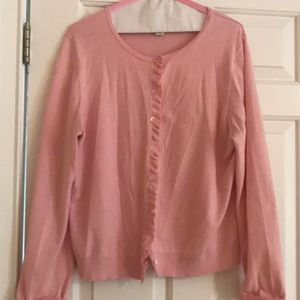 LOFT Pink Cardigan Sweater